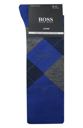 Мужские носки BOSS синего цвета, арт. 50392456   Фото 1