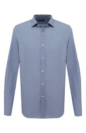 Мужская хлопковая рубашка RALPH LAUREN темно-синего цвета, арт. 790806114 | Фото 1