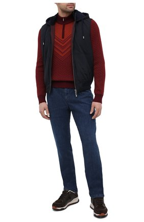 Мужской свитер из шерсти и шелка ZILLI SPORT бордового цвета, арт. MBU-CZ603-FASH9/ML01 | Фото 2