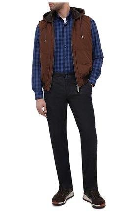Мужские джинсы ZILLI темно-синего цвета, арт. MCU-00545-DEC09/R001 | Фото 2