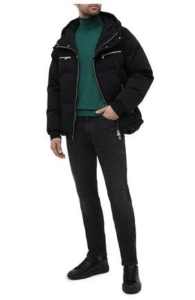 Мужской кашемировая водолазка DOLCE & GABBANA зеленого цвета, арт. GXB00T/JAW20   Фото 2 (Длина (для топов): Стандартные; Материал внешний: Шерсть, Кашемир; Принт: Без принта; Рукава: Длинные; Мужское Кросс-КТ: Водолазка-одежда; Стили: Кэжуэл)