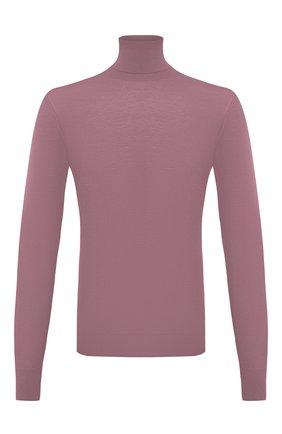 Мужской кашемировая водолазка DOLCE & GABBANA розового цвета, арт. GXB00T/JAW20 | Фото 1 (Материал внешний: Шерсть, Кашемир; Длина (для топов): Стандартные; Принт: Без принта; Рукава: Длинные; Стили: Кэжуэл; Мужское Кросс-КТ: Водолазка-одежда)