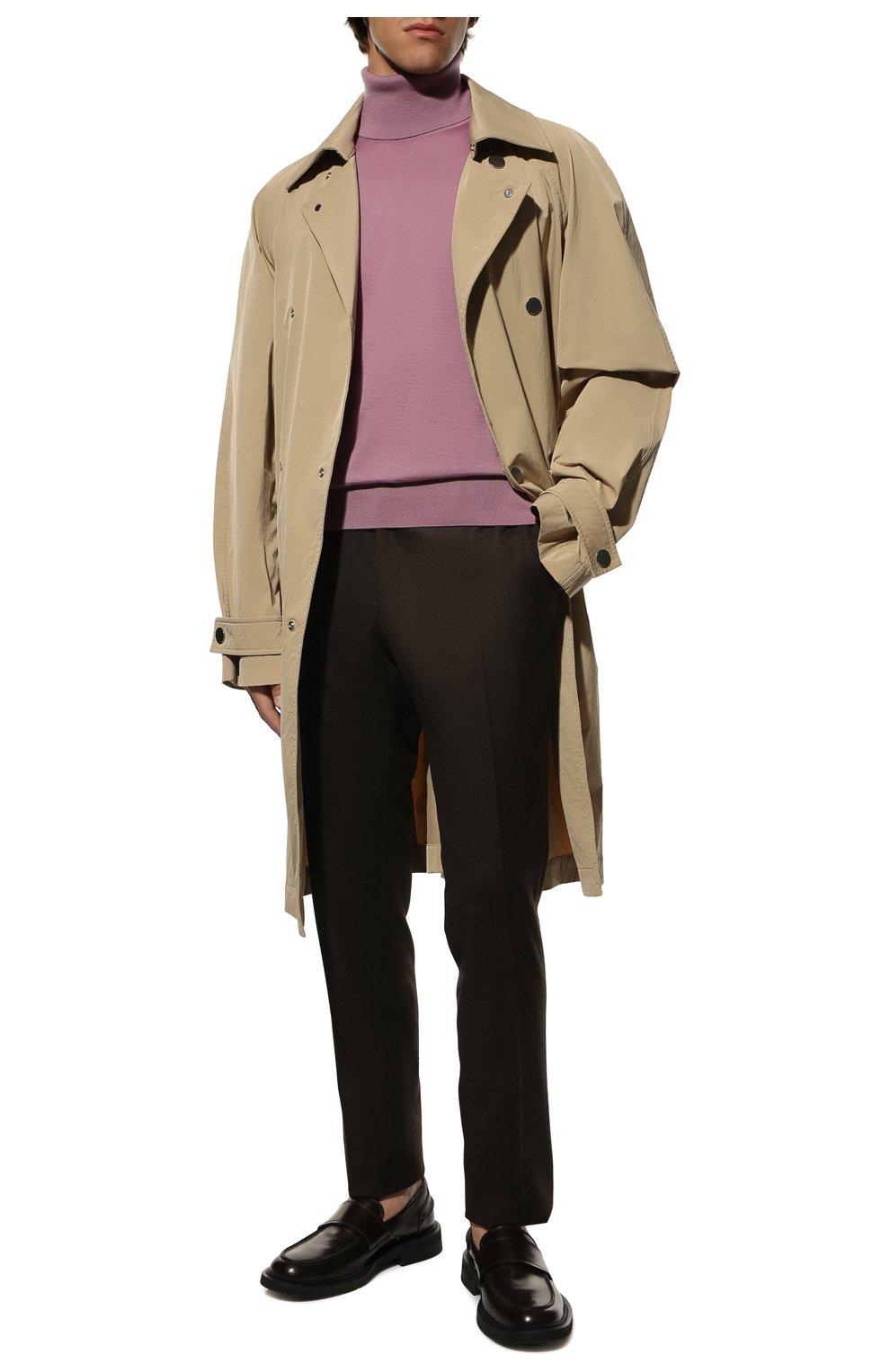 Мужской кашемировая водолазка DOLCE & GABBANA розового цвета, арт. GXB00T/JAW20   Фото 2 (Материал внешний: Шерсть, Кашемир; Рукава: Длинные; Принт: Без принта; Длина (для топов): Стандартные; Мужское Кросс-КТ: Водолазка-одежда; Стили: Кэжуэл)