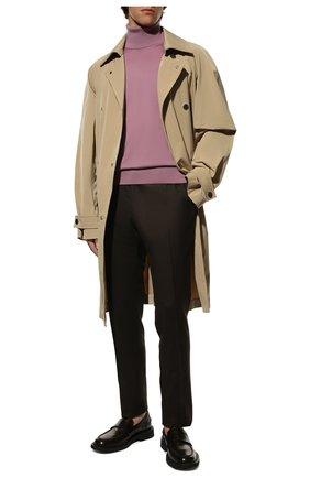 Мужской кашемировая водолазка DOLCE & GABBANA розового цвета, арт. GXB00T/JAW20   Фото 2 (Материал внешний: Шерсть, Кашемир; Длина (для топов): Стандартные; Принт: Без принта; Рукава: Длинные; Стили: Кэжуэл; Мужское Кросс-КТ: Водолазка-одежда)