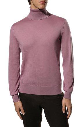 Мужской кашемировая водолазка DOLCE & GABBANA розового цвета, арт. GXB00T/JAW20   Фото 3 (Материал внешний: Шерсть, Кашемир; Рукава: Длинные; Принт: Без принта; Длина (для топов): Стандартные; Мужское Кросс-КТ: Водолазка-одежда; Стили: Кэжуэл)