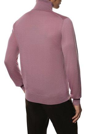 Мужской кашемировая водолазка DOLCE & GABBANA розового цвета, арт. GXB00T/JAW20   Фото 4 (Материал внешний: Шерсть, Кашемир; Рукава: Длинные; Принт: Без принта; Длина (для топов): Стандартные; Мужское Кросс-КТ: Водолазка-одежда; Стили: Кэжуэл)