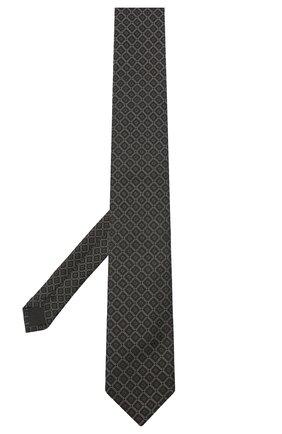 Мужской шелковый галстук DOLCE & GABBANA темно-серого цвета, арт. GT149E/G0JND | Фото 2