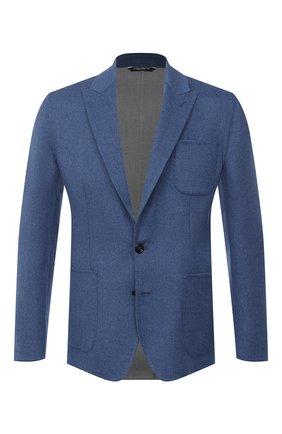 Мужской шерстяной пиджак DOLCE & GABBANA синего цвета, арт. G2NS9T/HUMJR   Фото 1