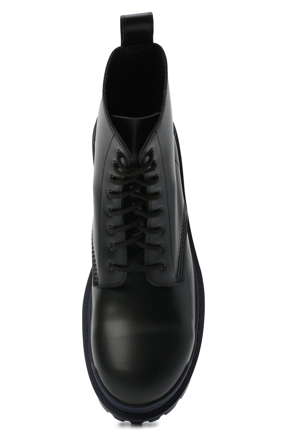 Мужские кожаные ботинки strike BALENCIAGA темно-синего цвета, арт. 589338/WA967 | Фото 5