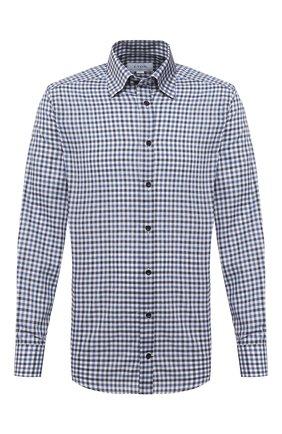 Мужская хлопковая рубашка ETON синего цвета, арт. 1000 01314 | Фото 1