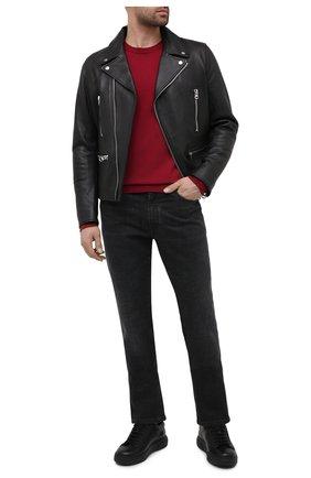 Мужские кожаные кеды CAMERLENGO черного цвета, арт. M15555CAINE703 | Фото 2