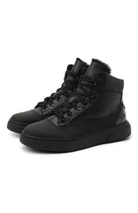Мужские кожаные ботинки CAMERLENGO черного цвета, арт. M15573MILAN0703 | Фото 1