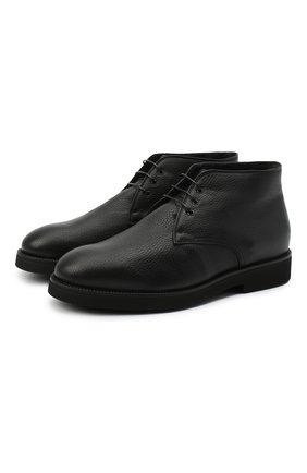 Мужские кожаные ботинки CAMERLENGO черного цвета, арт. M15584CAINE714 | Фото 1