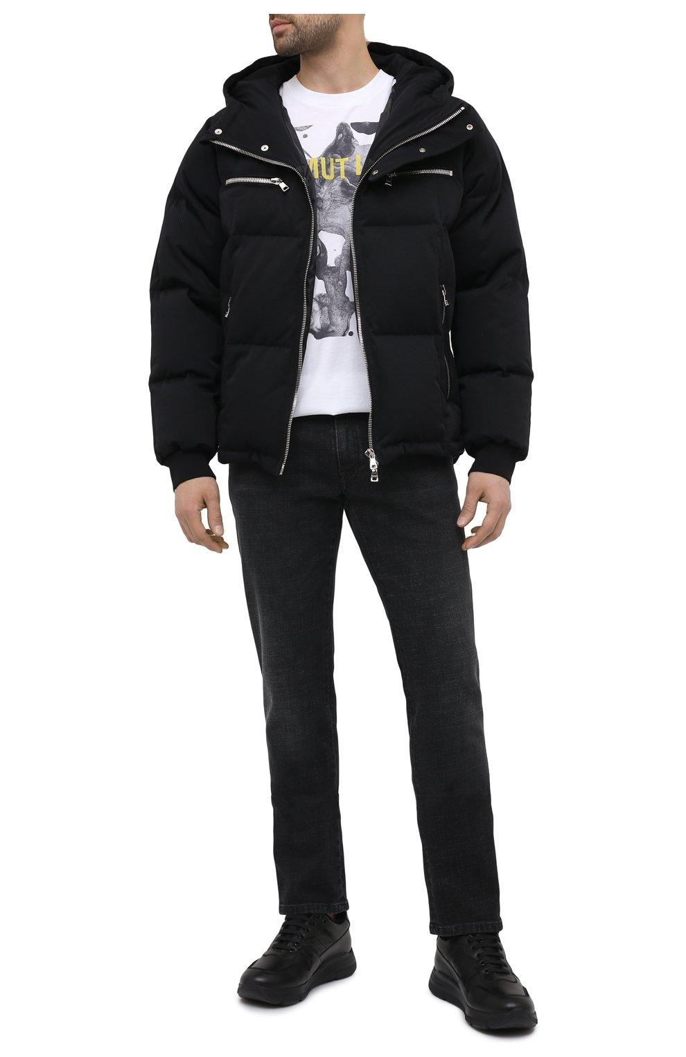 Мужские кожаные кроссовки CAMERLENGO черного цвета, арт. M15593PARIGI579   Фото 2 (Материал утеплителя: Натуральный мех; Стили: Классический; Подошва: Массивная)