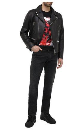 Мужские кожаные кеды CAMERLENGO черного цвета, арт. M15658GUMNE713 | Фото 2
