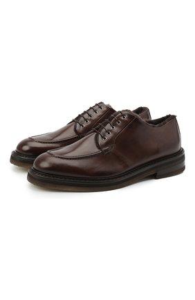Мужские кожаные дерби CAMERLENGO темно-коричневого цвета, арт. M15700MURTM724 | Фото 1