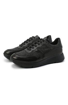 Мужские комбинированные кроссовки CAMERLENGO черного цвета, арт. Z15593L0NDRA579 | Фото 1