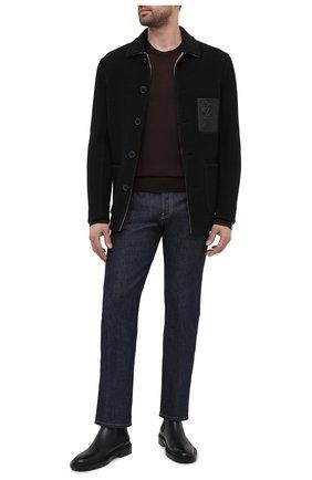 Мужской джемпер из кашемира и шелка DOLCE & GABBANA темно-коричневого цвета, арт. GXA63T/JAM4J | Фото 2