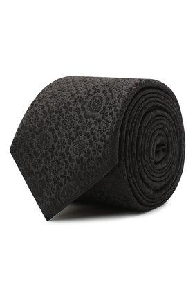 Мужской шелковый галстук DOLCE & GABBANA черного цвета, арт. GT149E/G0JNS | Фото 1