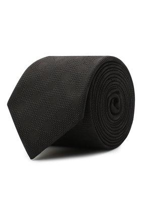Мужской шелковый галстук DOLCE & GABBANA черного цвета, арт. GT149E/G0JNM | Фото 1