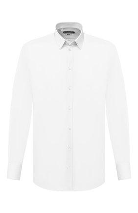 Мужская хлопковая сорочка DOLCE & GABBANA белого цвета, арт. G5EJ1T/FU5NK | Фото 1