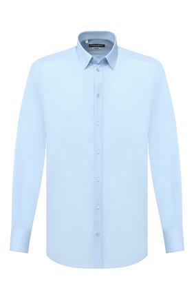 Мужская хлопковая сорочка DOLCE & GABBANA голубого цвета, арт. G5EJ1T/FU5NK | Фото 1