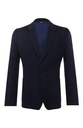 Мужской шерстяной пиджак DOLCE & GABBANA темно-синего цвета, арт. G20S1T/HUMJR   Фото 1