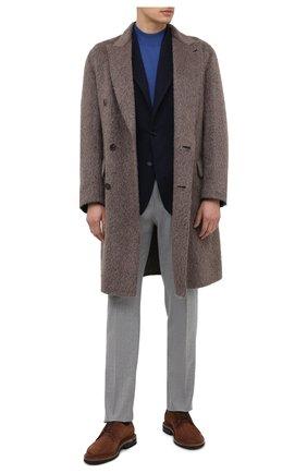 Мужской шерстяной пиджак DOLCE & GABBANA темно-синего цвета, арт. G20S1T/HUMJR   Фото 2