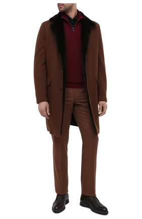 Мужская рубашка из шелка и хлопка BRUNELLO CUCINELLI темно-синего цвета, арт. MTS466686 | Фото 2 (Материал внешний: Хлопок, Шелк; Рукава: Длинные; Длина (для топов): Стандартные; Случай: Повседневный; Мужское Кросс-КТ: Рубашка-одежда; Стили: Кэжуэл; Рубашки М: Slim Fit; Манжеты: На пуговицах; Воротник: Акула; Принт: Однотонные)