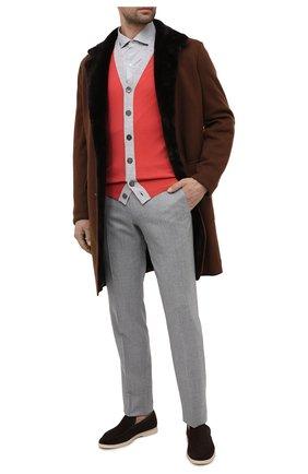 Мужской кардиган из шерсти и кашемира BRUNELLO CUCINELLI красного цвета, арт. M24802706 | Фото 2