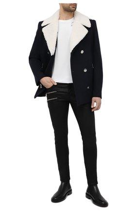 Мужская хлопковая футболка  SAINT LAURENT белого цвета, арт. 632713/YBWG2 | Фото 2 (Материал внешний: Хлопок; Длина (для топов): Стандартные; Рукава: Короткие; Мужское Кросс-КТ: Футболка-одежда; Стили: Кэжуэл; Принт: С принтом)