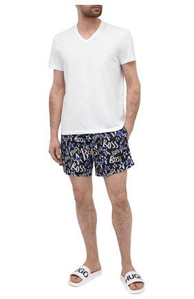 Мужские шлепанцы HUGO белого цвета, арт. 50421188 | Фото 2