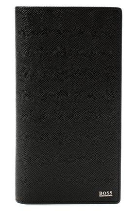 Мужской кожаное портмоне BOSS черного цвета, арт. 50437534 | Фото 1