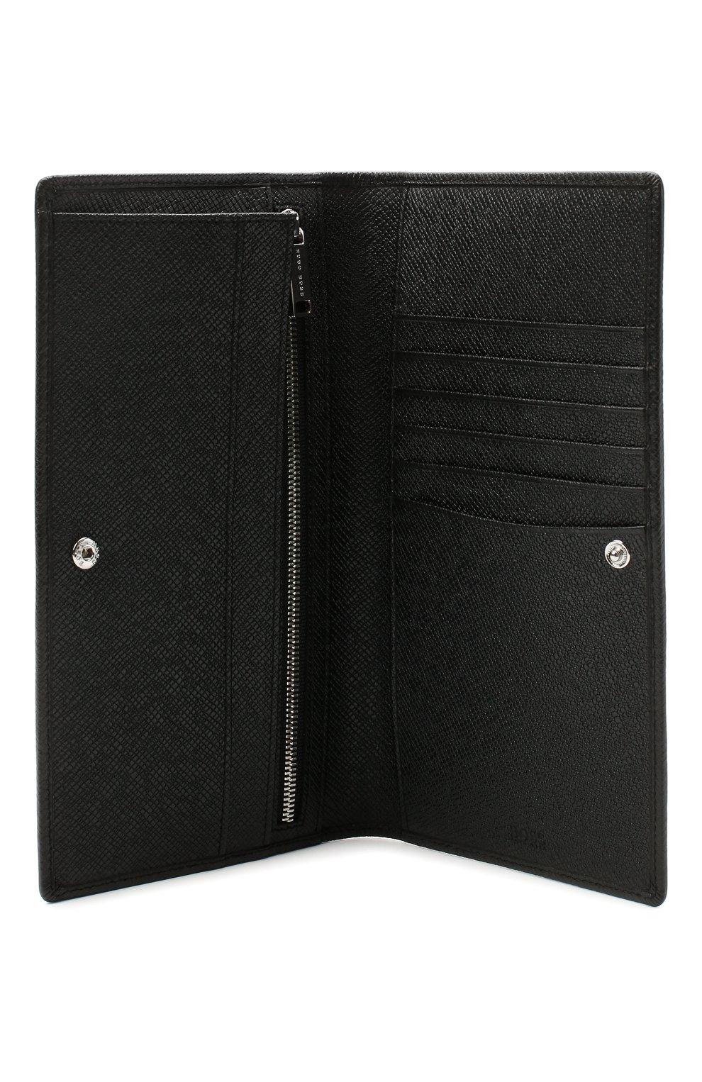 Мужской кожаное портмоне BOSS черного цвета, арт. 50437534 | Фото 3