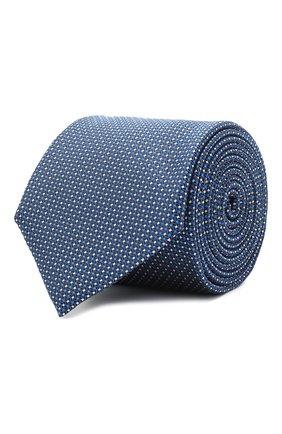 Мужской шелковый галстук BOSS синего цвета, арт. 50446842 | Фото 1