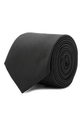 Мужской шелковый галстук BOSS черного цвета, арт. 50447075 | Фото 1