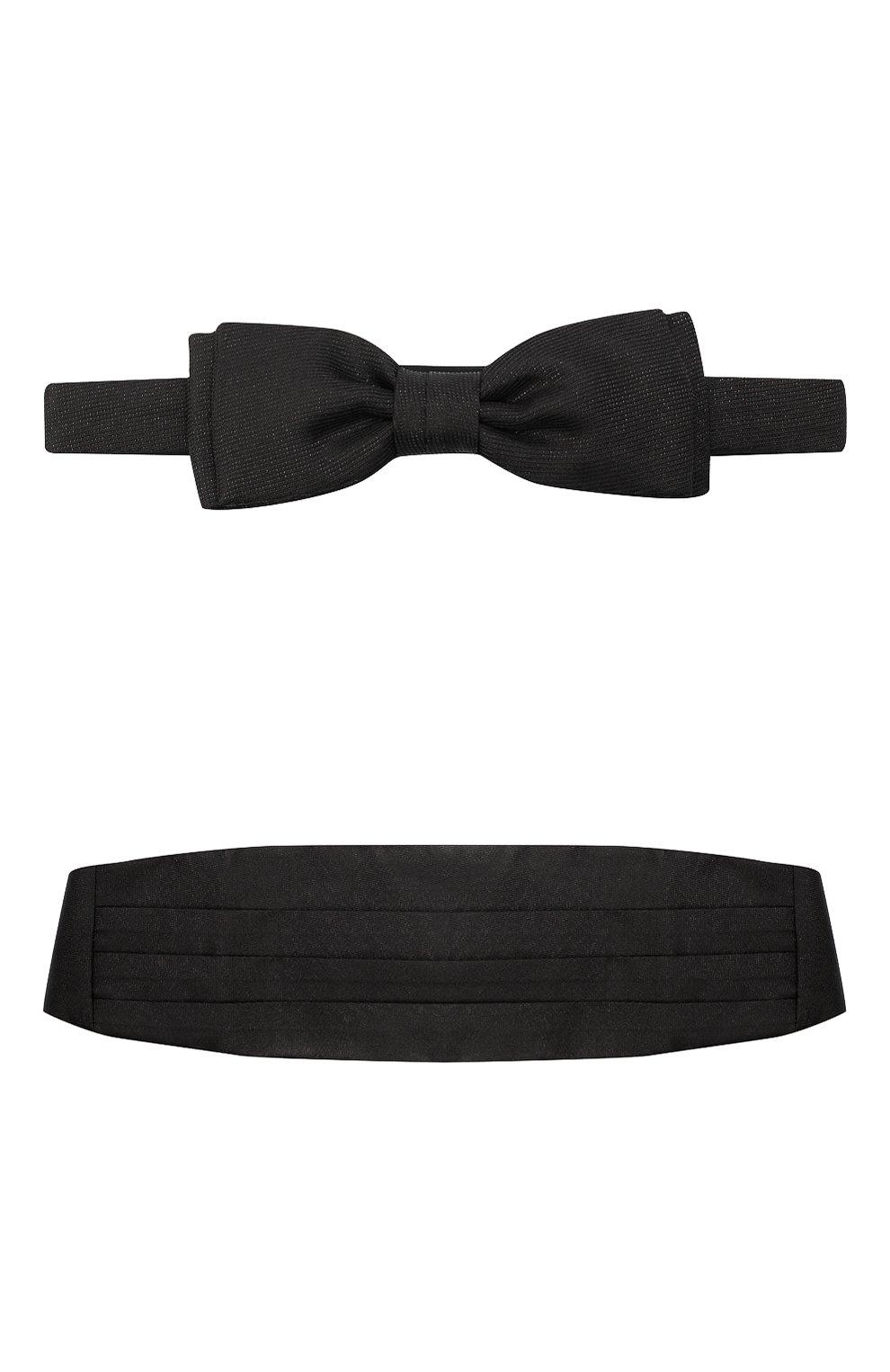 Мужской комплект из камербанда и галстука-бабочки BOSS черного цвета, арт. 50448748 | Фото 1