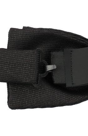 Мужской комплект из камербанда и галстука-бабочки BOSS черного цвета, арт. 50448748 | Фото 4