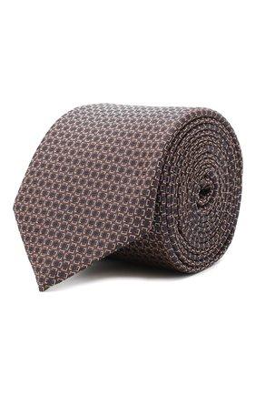 Мужской шелковый галстук BOSS коричневого цвета, арт. 50447304 | Фото 1