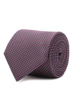 Мужской шелковый галстук BOSS бордового цвета, арт. 50446842 | Фото 1