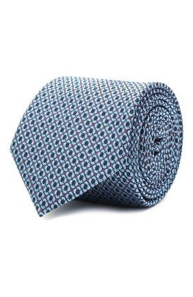 Мужской шелковый галстук BOSS синего цвета, арт. 50447053 | Фото 1