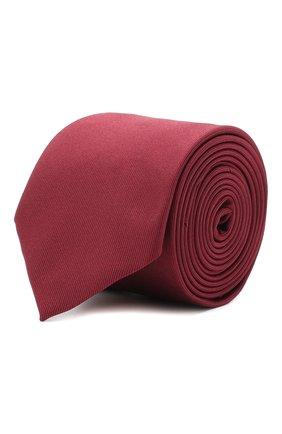 Мужской шелковый галстук BOSS бордового цвета, арт. 50447075 | Фото 1