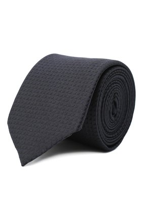 Мужской шелковый галстук HUGO темно-синего цвета, арт. 50447336 | Фото 1