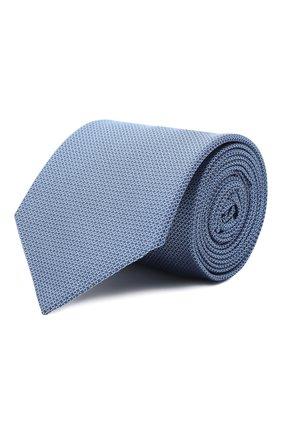 Мужской шелковый галстук HUGO синего цвета, арт. 50447365 | Фото 1