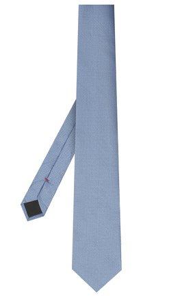 Мужской шелковый галстук HUGO синего цвета, арт. 50447365 | Фото 2