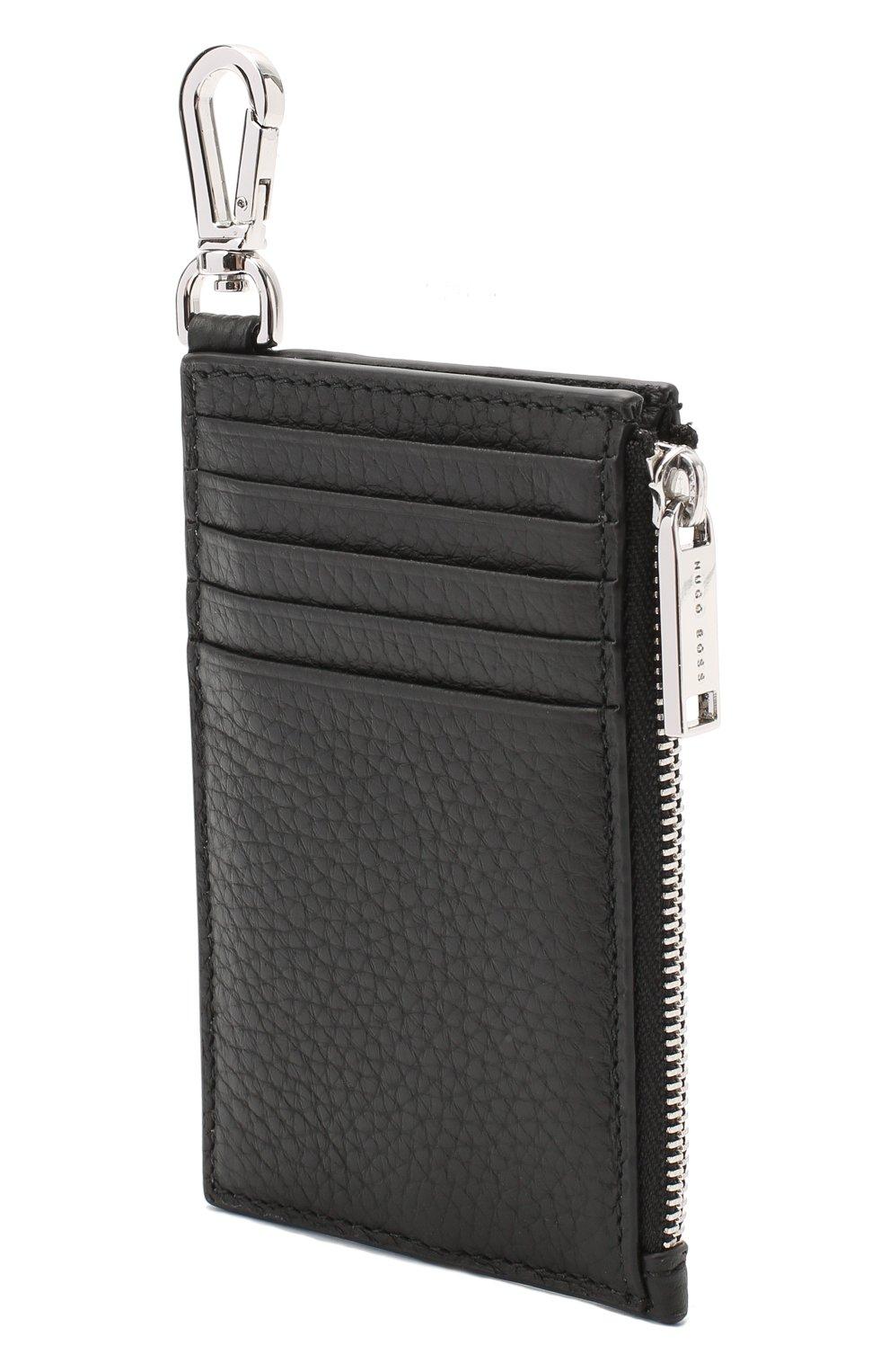 Мужской кожаный кошелек для монет BOSS черного цвета, арт. 50437544   Фото 2