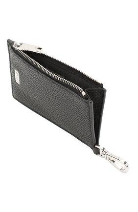 Мужской кожаный кошелек для монет BOSS черного цвета, арт. 50437544   Фото 3