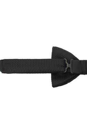 Мужской шелковый галстук-бабочка BOSS черного цвета, арт. 50448764 | Фото 3