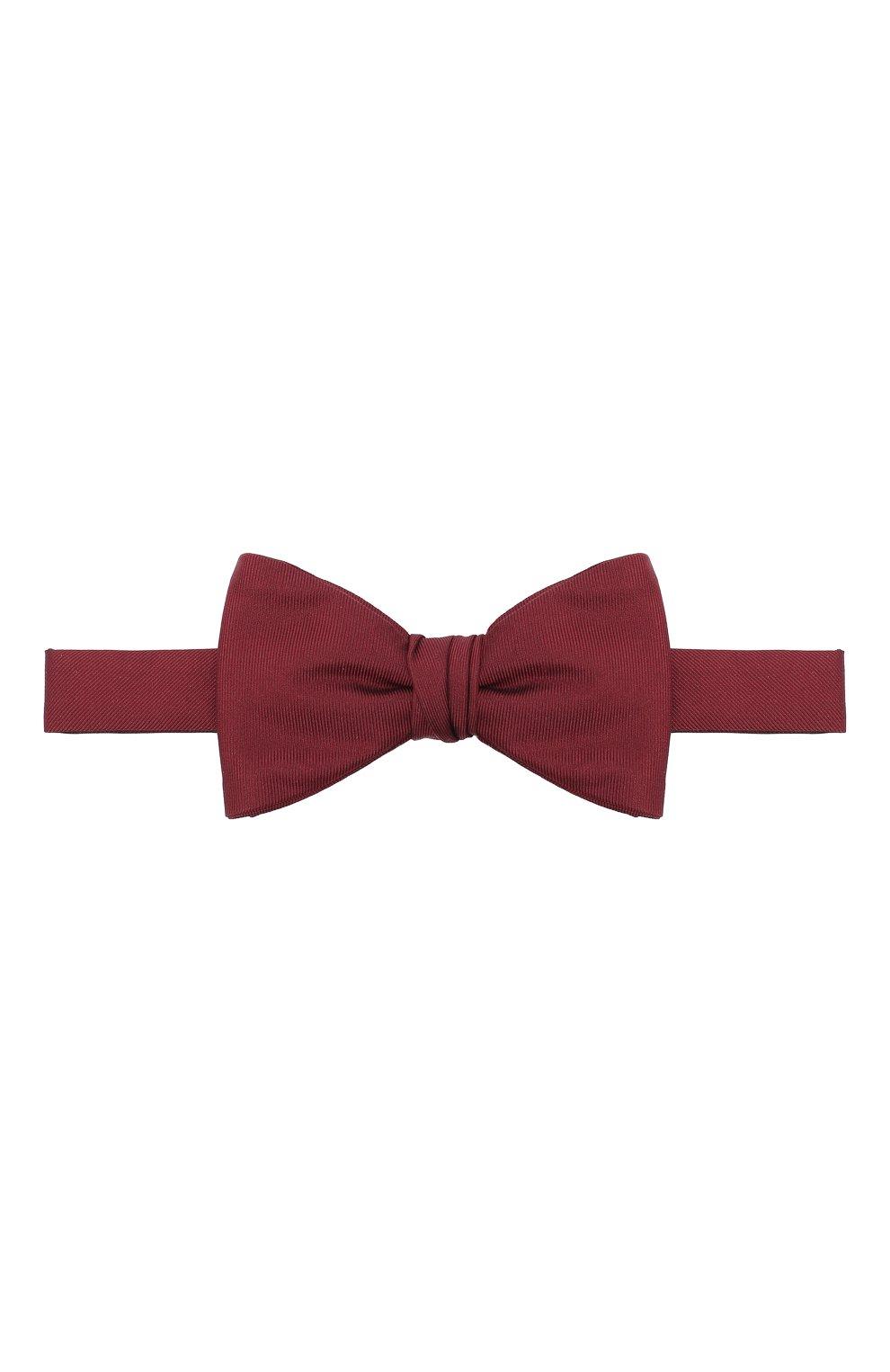 Мужской шелковый галстук-бабочка BOSS бордового цвета, арт. 50447087   Фото 1