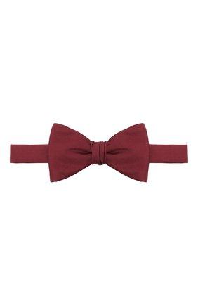 Мужской шелковый галстук-бабочка BOSS бордового цвета, арт. 50447087 | Фото 1